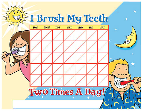 Color Brushing Chart for Children - Pediatric Dentist in Hales Corners, WI